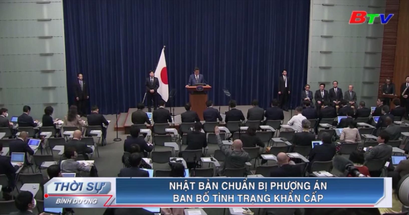 Nhật Bản chuẩn bị phương án ban bố tình trạng khẩn cấp