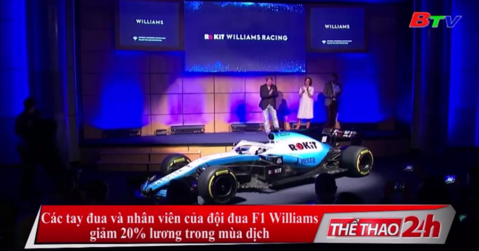 Các tay đua và nhân viên của đội đua F1 Williams giảm 20% lương trong mùa dịch