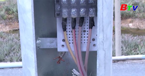Cảnh giác với tội phạm trộm cắp, hủy hoại đường dây điện