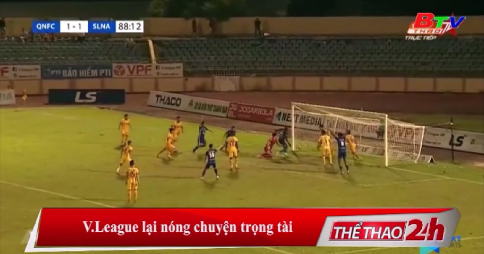 V-League lại nóng chuyện trọng tài
