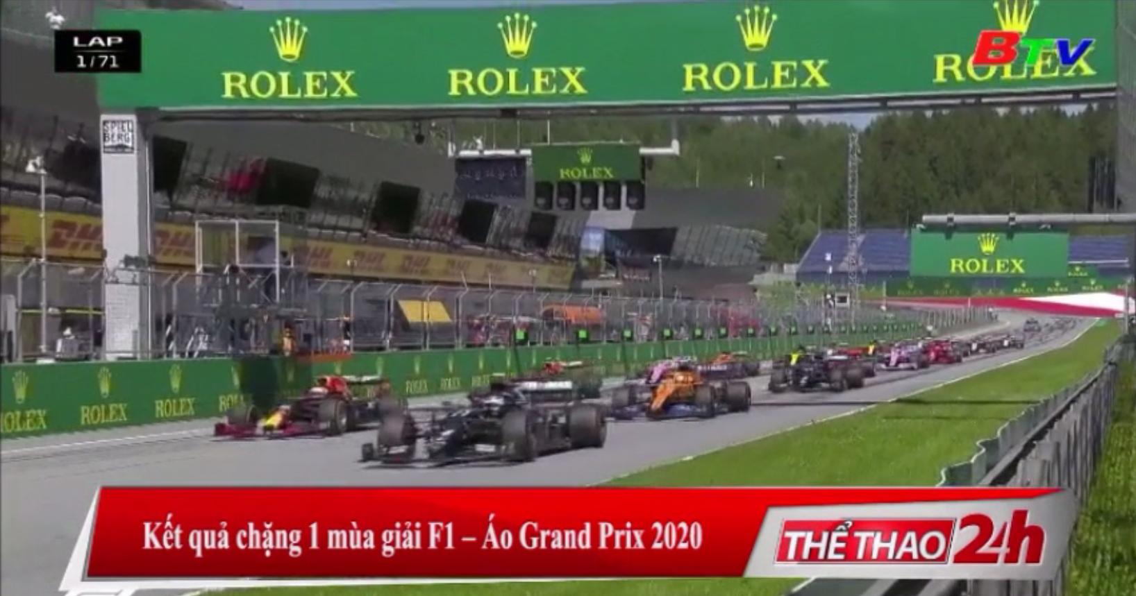 Kết quả chặng 1 mùa giải F1 - Áo Grand Prix 2020