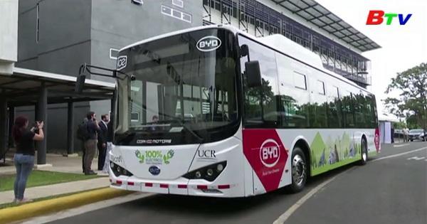 Thử nghiệm xe buýt điện đầu tiên ở Costa Rica