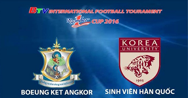 Boeung Ket Angkor  vs Sinh viên Hàn Quốc (ngày 05/12/2016)