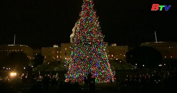 Mỹ thắp sáng cây giáng sinh điện Capitol