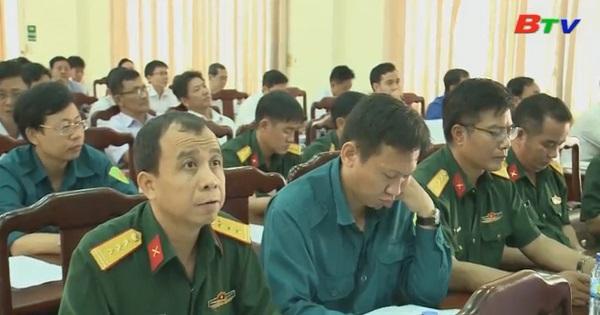 Sơ kết hoạt động của Ban chỉ huy quân sự và đơn vị tự vệ cơ quan, tổ chức ở cơ sở