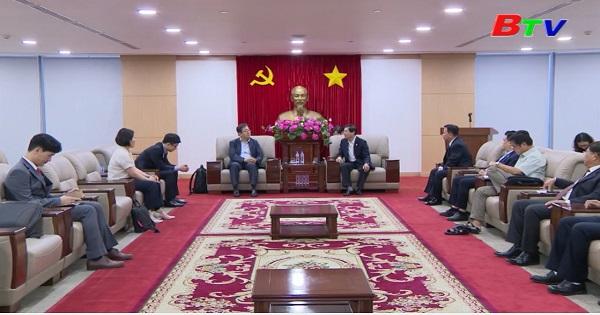 Lãnh đạo tỉnh tiếp đoàn doanh nghiệp Hàn Quốc