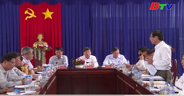 Tỉnh ủy Bình Dương làm việc tại huyện Bàu Bàng