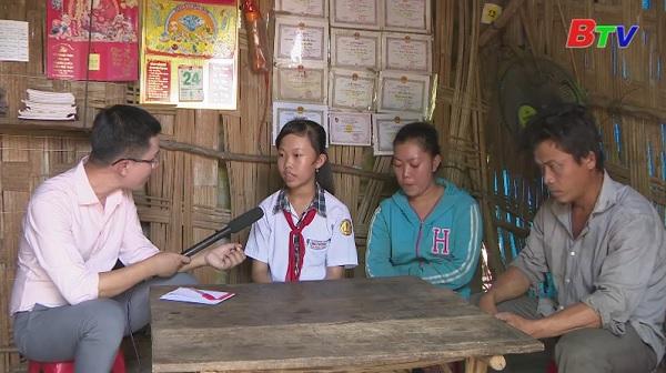 Thắp sáng ước mơ Xanh - Hoàn cảnh em Nguyễn Thị Kim Sương (Lớp 8A1 trường THCS Núi Tượng, huyện Tân Phú, Đồng Nai)