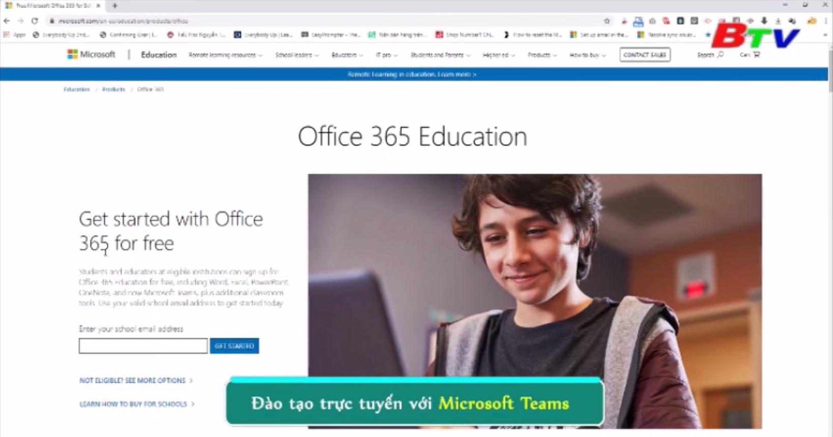 Đào tạo trực tuyến với Microsoft Teams