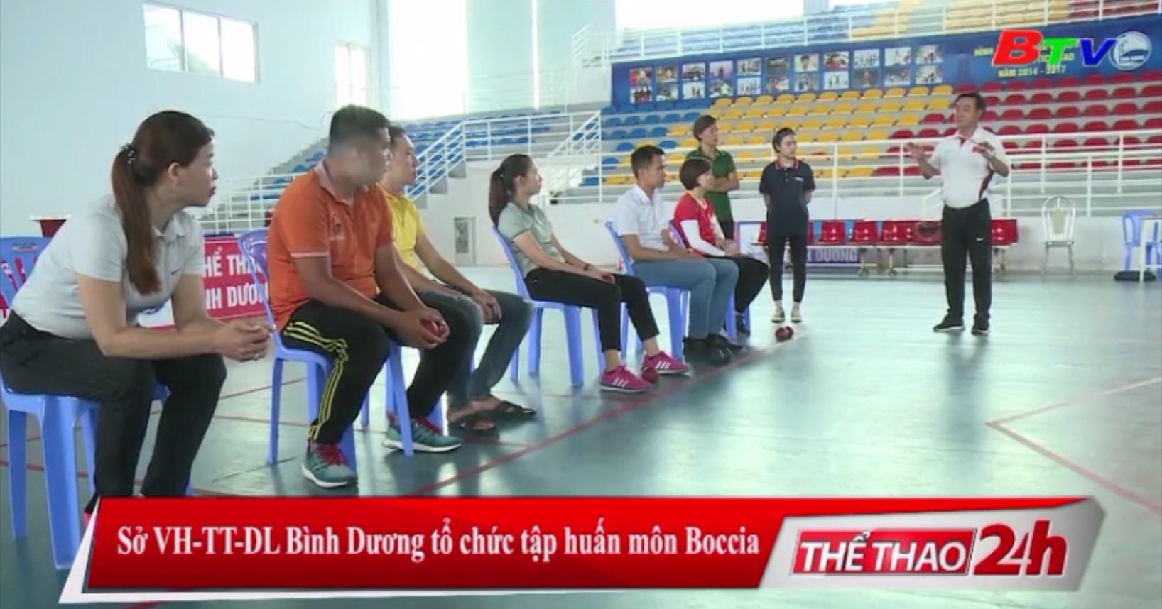 Sở VH-TT-DL Bình Dương tổ chức tập huấn môn Boccia