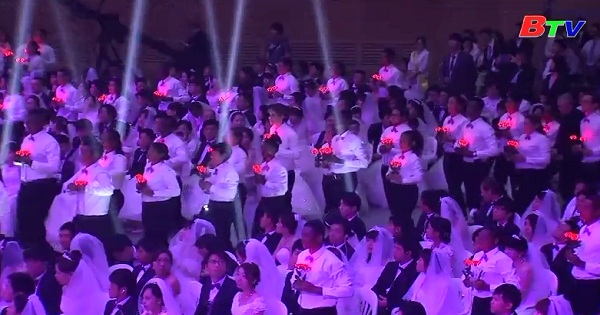4000 cặp đôi tham gia đám cưới tập thể tại Seoul
