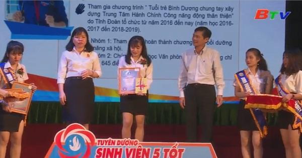 Trao tặng 3 giải thưởng Sao Tháng Giêng và 64 danh hiệu Sinh viên 5 Tốt