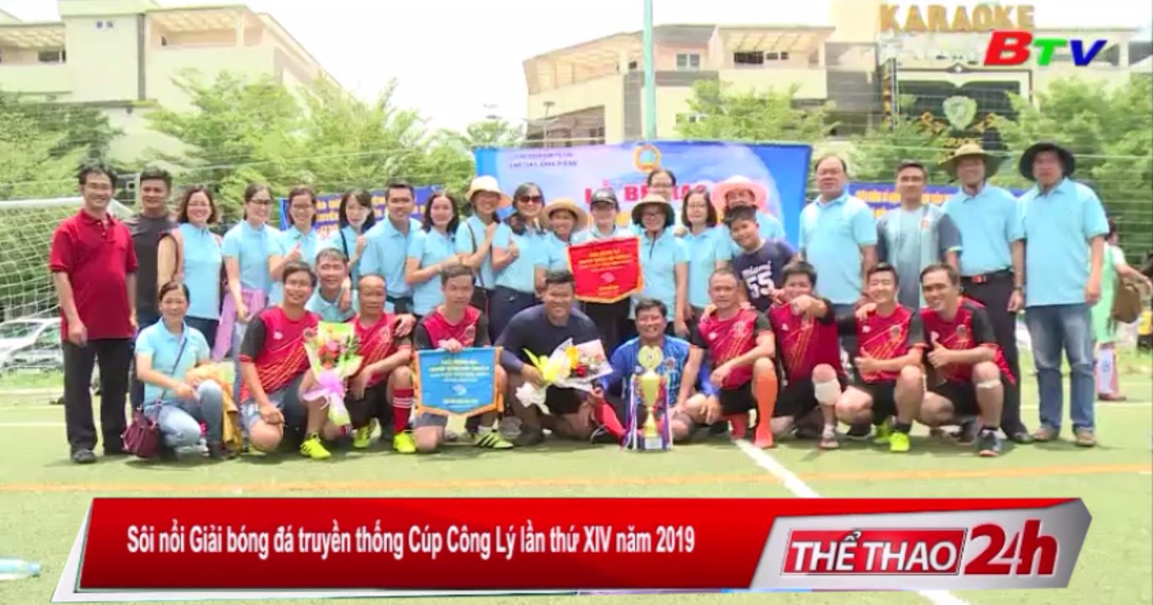 Sôi nổi Giải bóng đá truyền thống Cúp Công Lý lần thứ XIV năm 2019