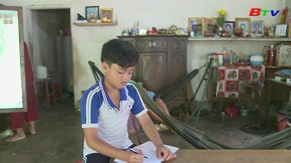 Thắp sáng ước mơ Xanh - Hoàn cảnh em Lê Ngọc Sang, học sinh lớp 6A4, trường THCS Long Bình, huyện Bàu Bàng, tỉnh Bình Dương