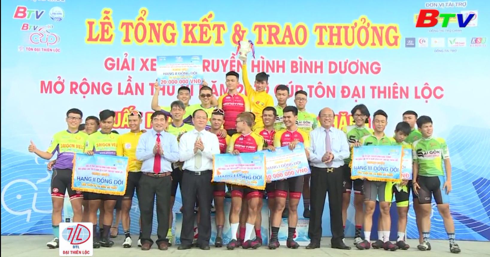 Khép lại thành công Giải xe đạp Truyền hình Bình Dương mở rộng lần VI  năm 2019 - Cúp Tôn Đại Thiên Lộc