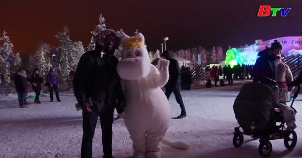 Lung linh lâu đài tuyết Moomin ở Phần Lan