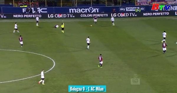Đấu bù vòng 18 Giải VĐQG Italia - Bologna  1-0 AC Milan