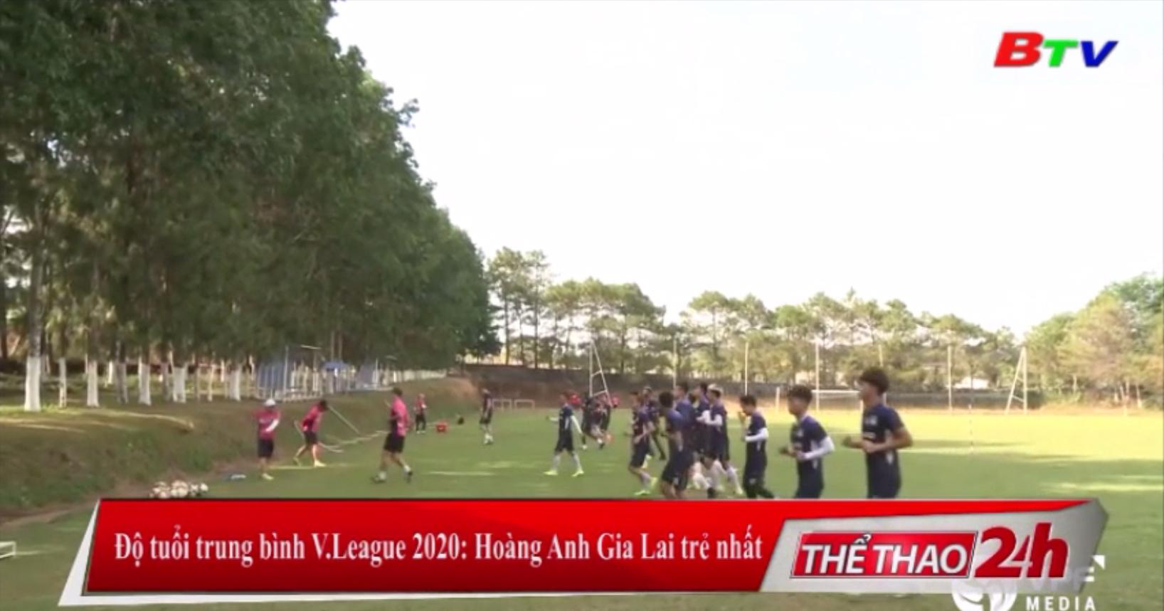 Độ tuổi trung bình V-League 2020 – Hoàng Anh Gia Lai trẻ nhất