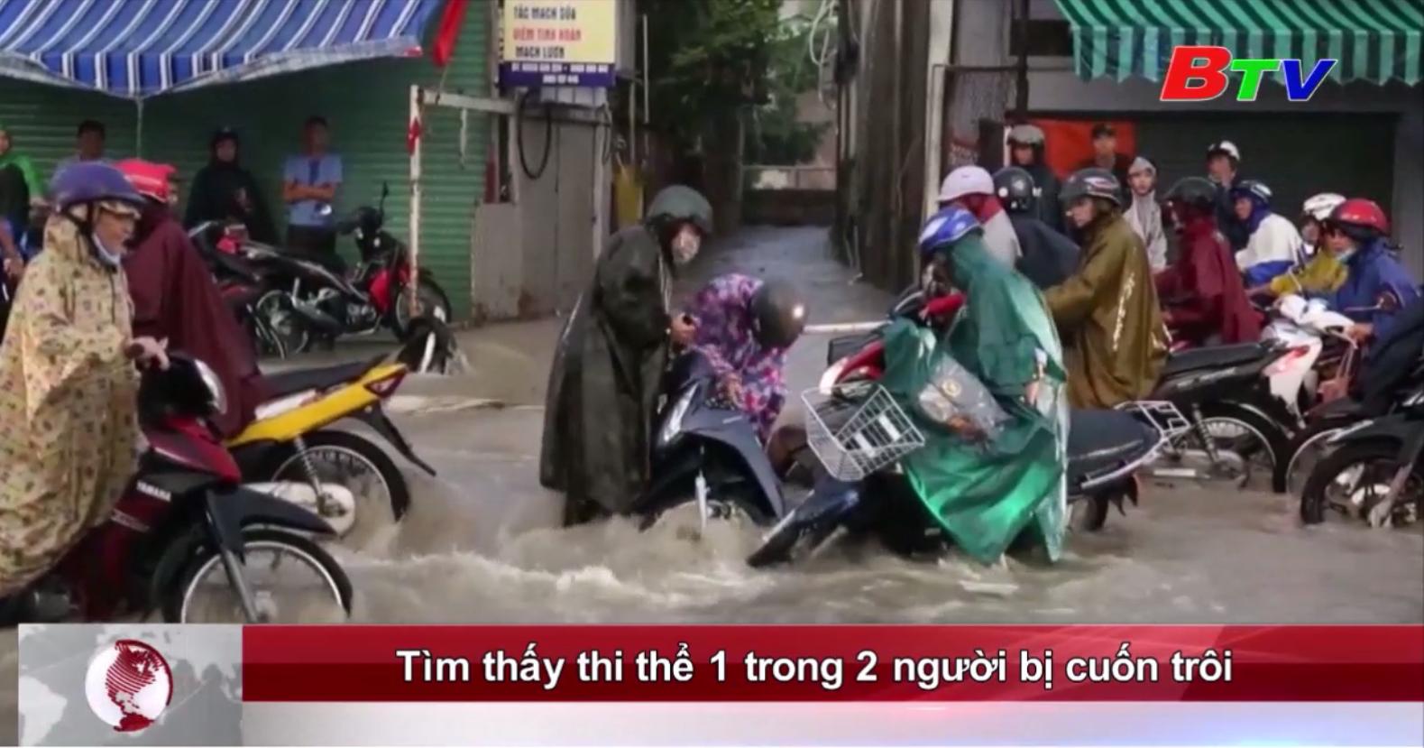 Tìm thấy thi thể 1 trong 2 người bị nước mưa cuốn trôi
