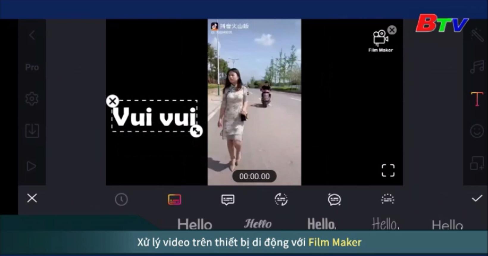 Xử lý video trên thiết bị di động với Film Maker