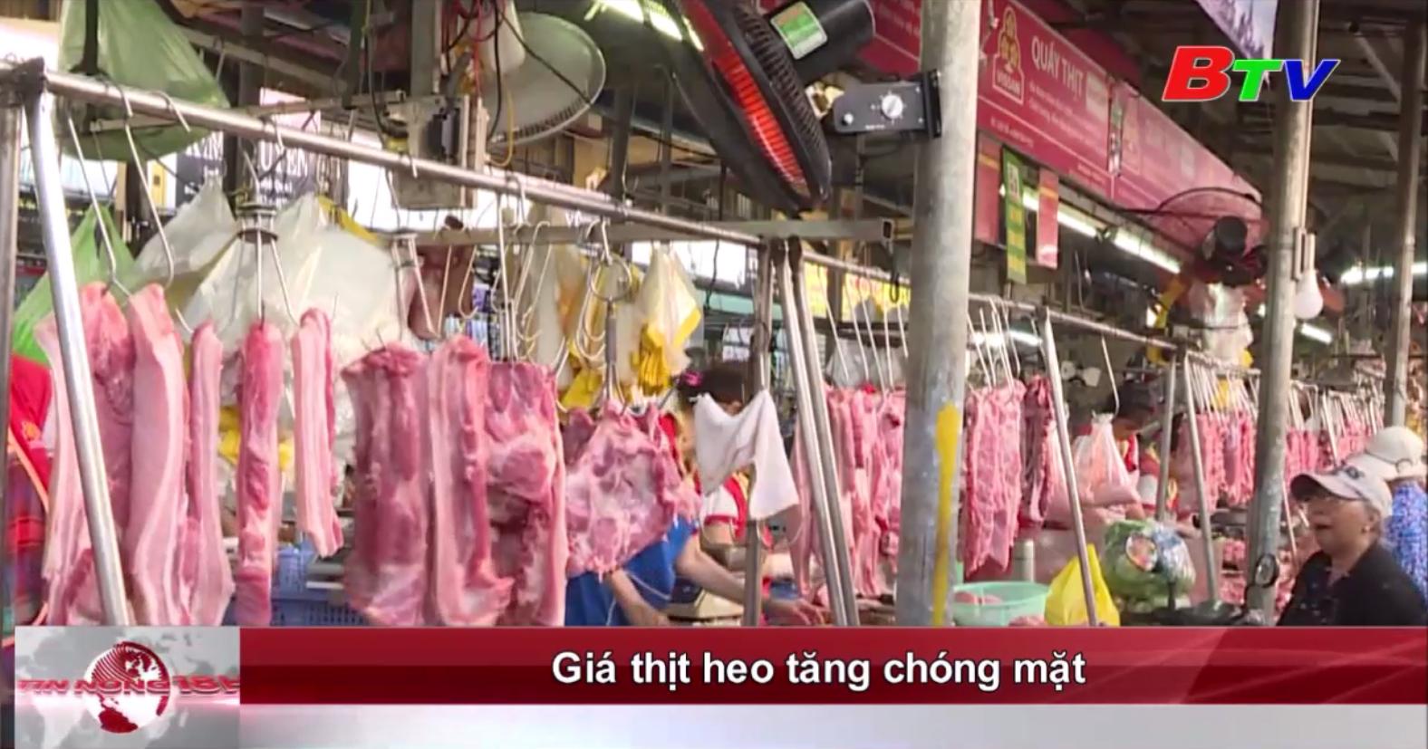 Giá thịt heo tăng chóng mặt