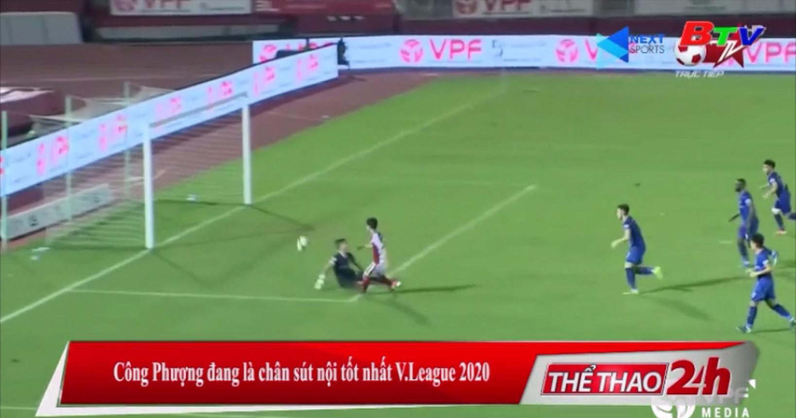 Công Phượng đang là chân sút nội tốt nhất V-League 2020
