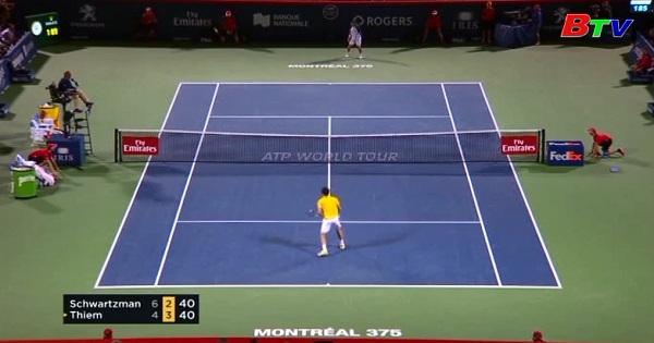 Dominic Thiem bị loại ở vòng 2 giải quần vợt Rogers Cup 2017