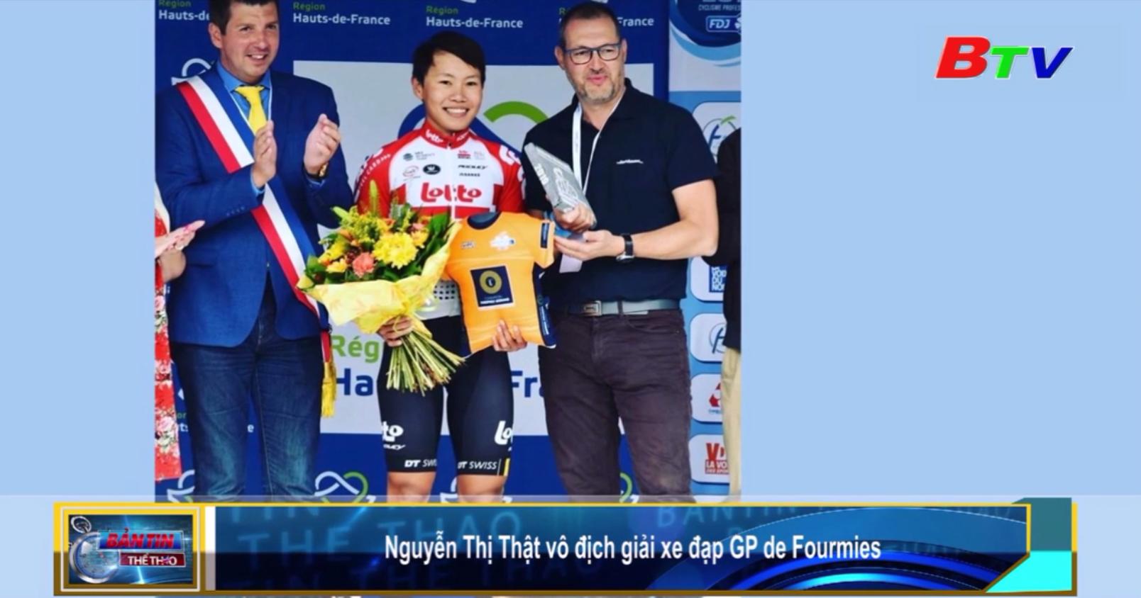 Nguyễn Thị Thật vô địch Giải xe đạp GP de Fourmies
