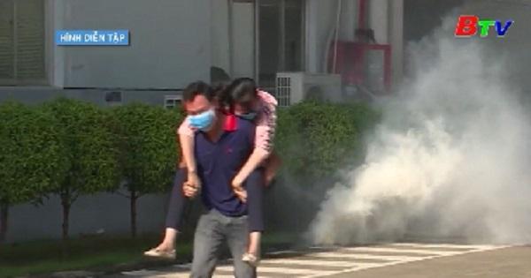 Tổng duyệt phương án diễn tập xử lý cháy nổ và cứu nạn cứu hộ
