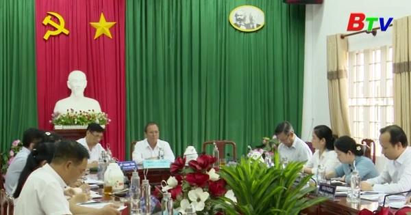 Tỉnh ủy kiểm tra công tác chuẩn bị đại hội tại thị xã Thuận An
