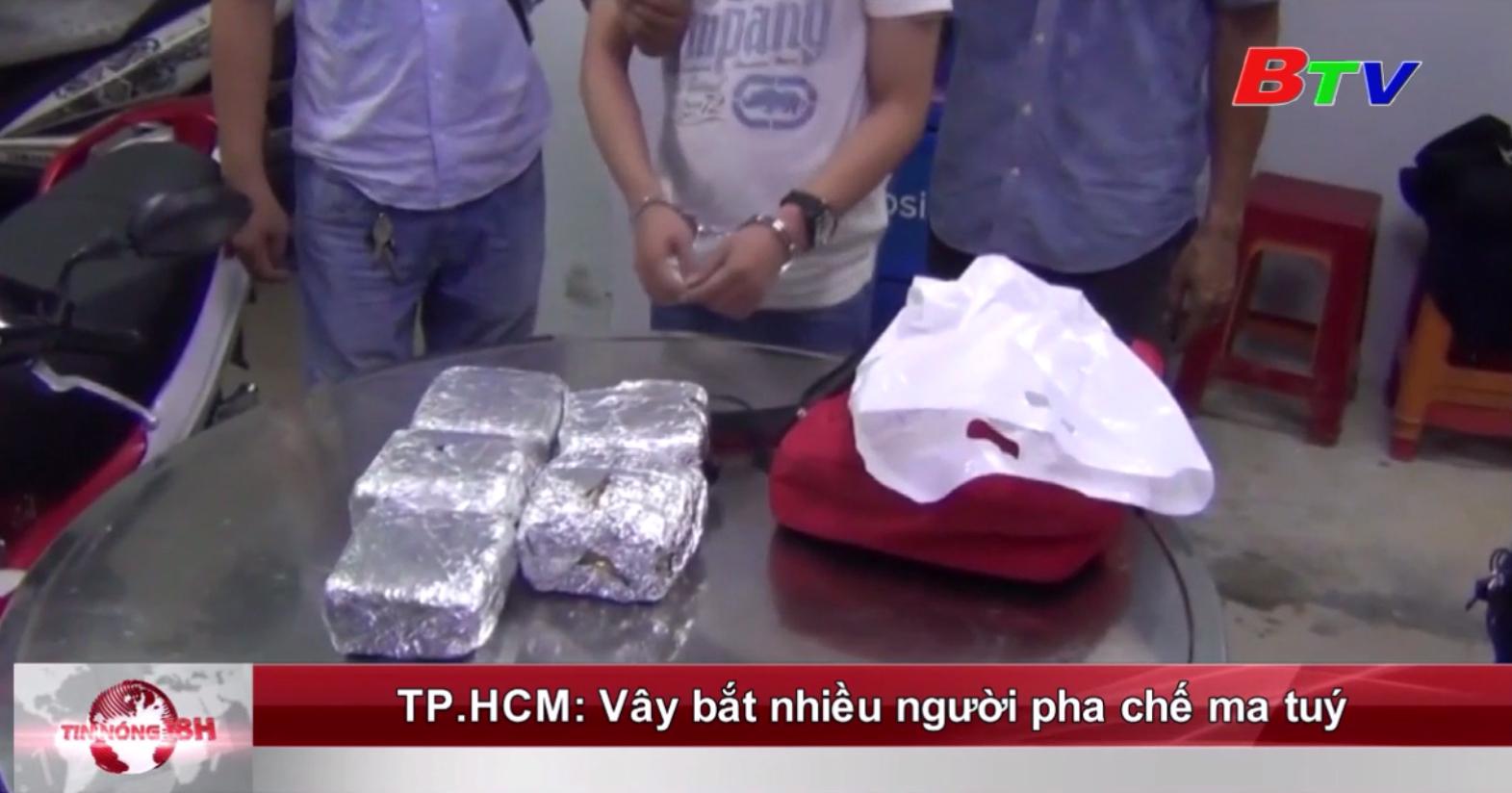 TP.HCM: Vây bắt nhiều người pha chế ma túy