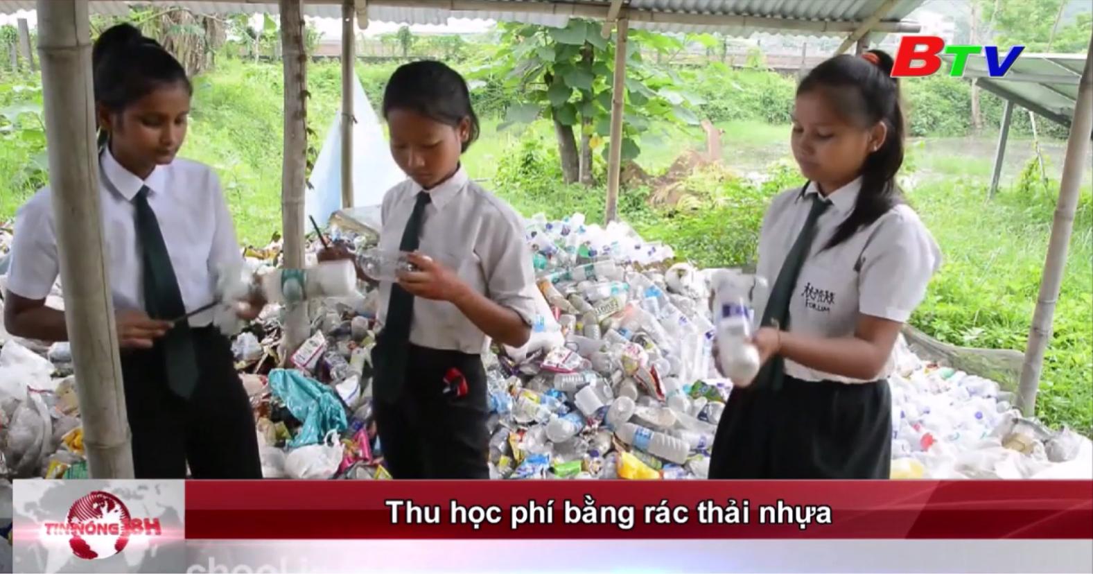 Thu học phí bằng rác thải nhựa