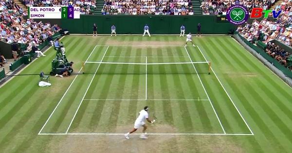 Juan Martin del Potro vào tứ kết Giải quần vợt Wimbledon 2018