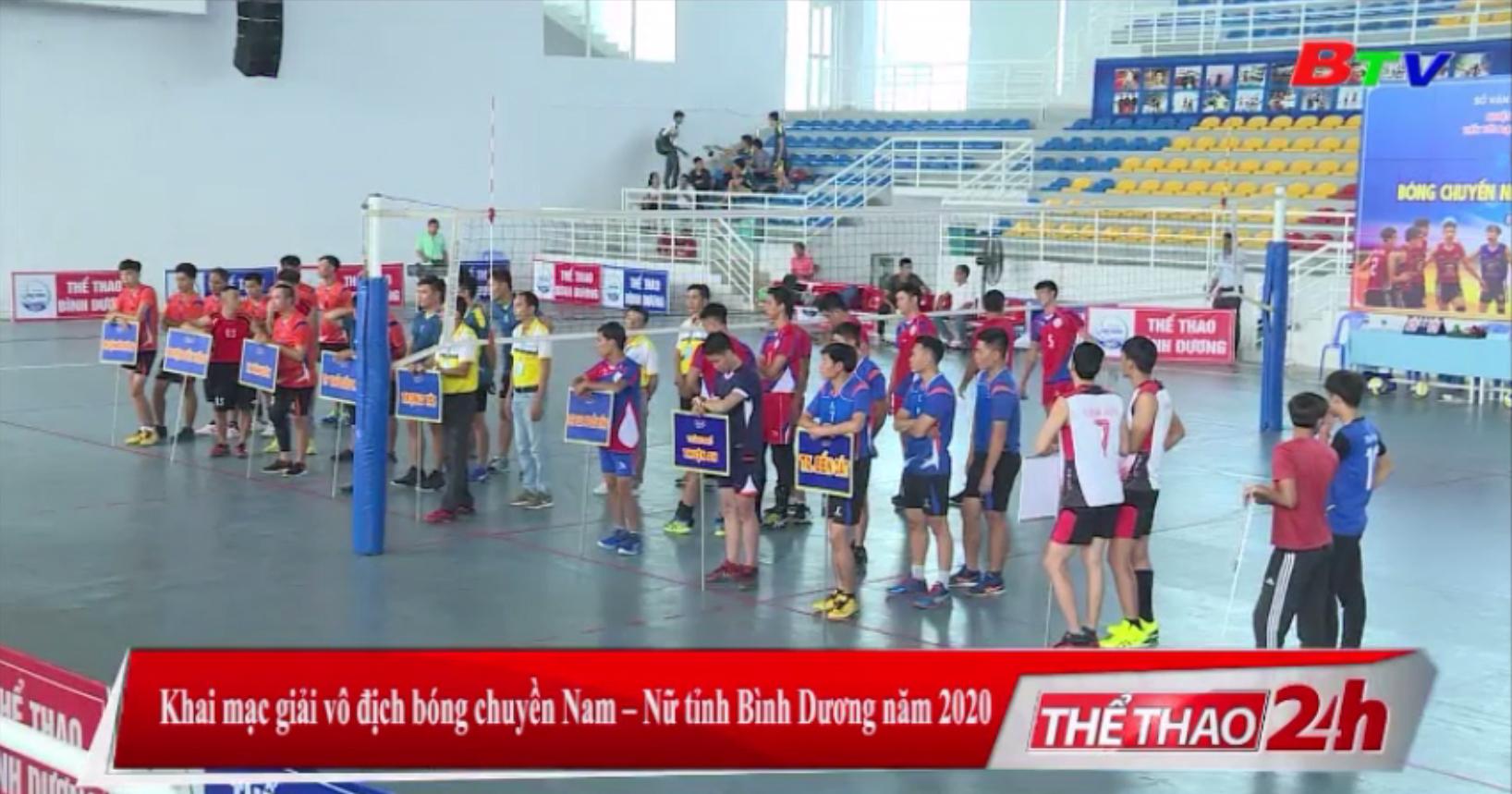 Khai mạc Giải vô địch bóng chuyền nam - nữ tỉnh Bình Dương năm 2020