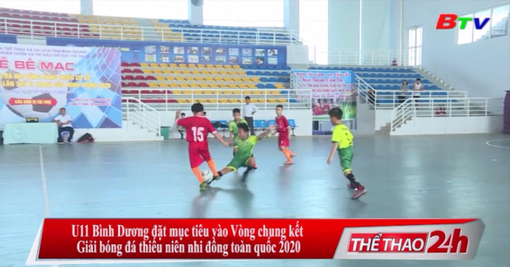 U11 Bình Dương đặt mục tiêu vào Vòng chung kết Giải bóng đá thiếu niên nhi đồng toàn quốc 2020