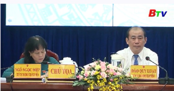 Khai mạc kỳ họp thứ 12 HĐND thành phố Dĩ An
