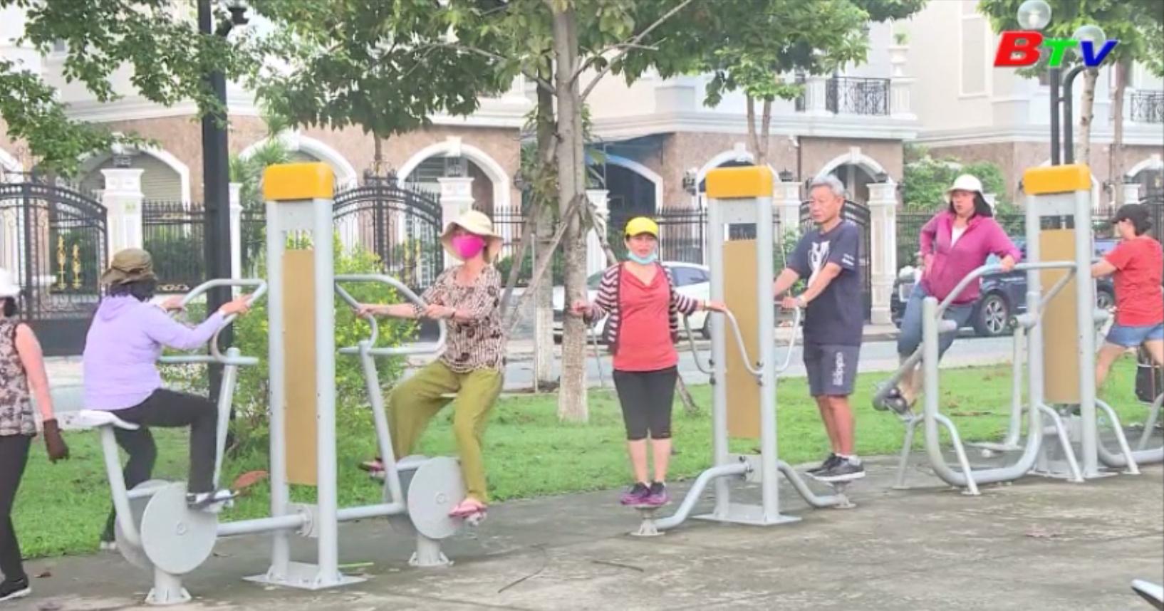 Người dân Bình Dương tích cực tập luyện thể thao nâng cao sức khỏe