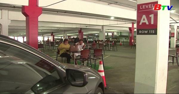 Biến bãi đậu xe thành nhà ăn ở Los Angeles, Mỹ
