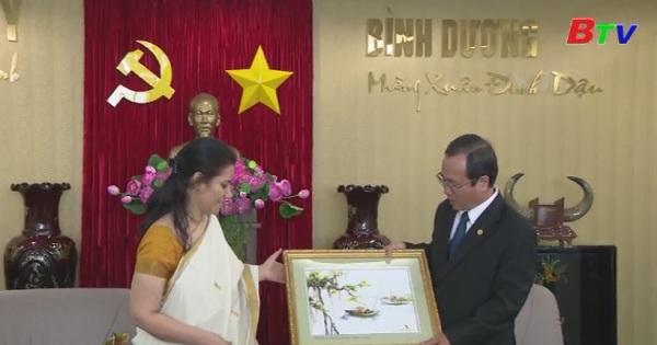 Lãnh đạo tỉnh Bình Dương tiếp lãnh sự Ấn Độ
