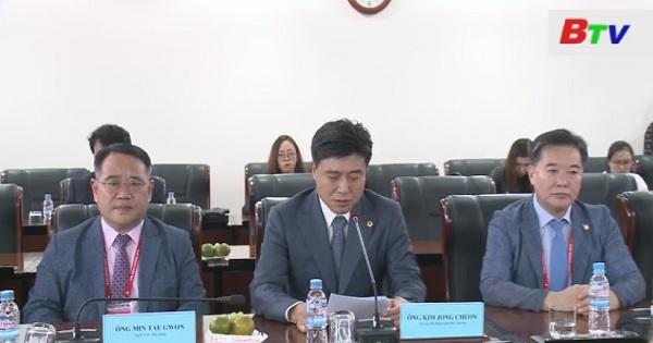 Lãnh đạo HĐND tỉnh Bình Dương tiếp đoàn Đại biểu HĐND Tp.DAEJEON - Hàn Quốc