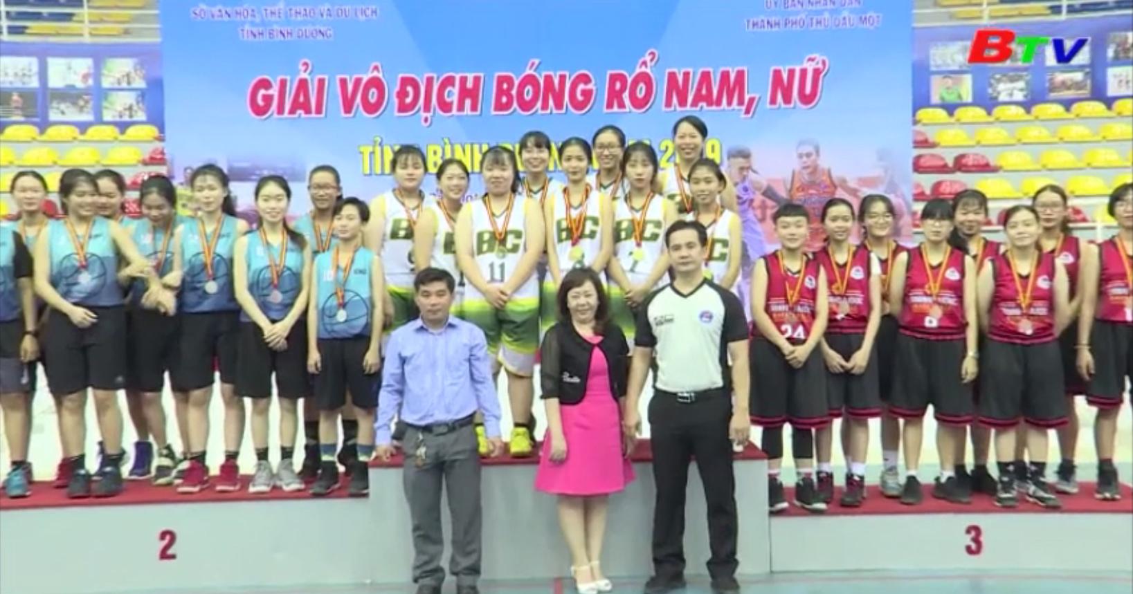 Bế mạc Giải vô địch bóng rổ tỉnh Bình Dương 2019