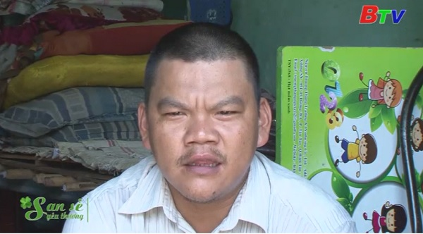 San Sẻ Yêu Thương - Hoàn cảnh anh Nguyễn Hữu Sinh (đường ĐX 72, khu phố 5, phường Định Hòa, Tp.TDM, Bình Dương)