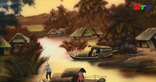 Tết trong tranh sơn mài và hướng đi của một làng nghề