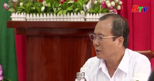 Tỉnh ủy kiểm tra công tác chuẩn bị Đại hội Đảng tại Thuận An