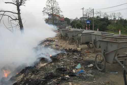 Tiềm ẩn cháy nổ do bất cẩn khi đốt rác