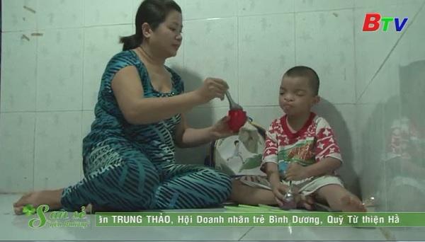 San Sẻ Yêu Thương - Hoàn cảnh em Nguyễn Minh Trí (nhà trọ Thu Lợi, KP 4, đường XC 6, phường Mỹ Phước, Bến Cát)