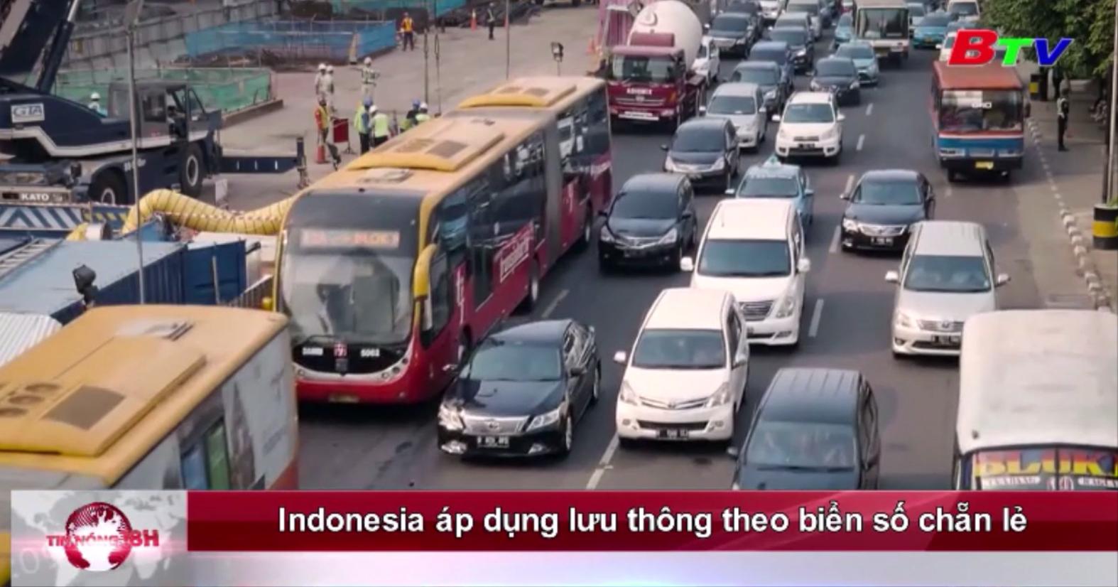 Indonesia áp dụng lưu thông theo biển số chẵn - lẻ