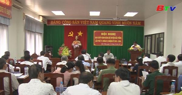 Hội nghị Ban chấp hành Đảng bộ huyện Dầu Tiếng lần 17 (khóa IV)