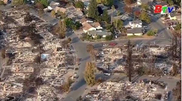 Mỹ - Ít nhất 21 người thiệt mạng do cháy rừng ở California