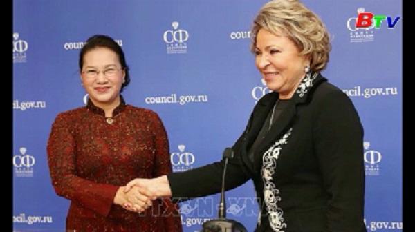Chủ tịch Quốc hội Nguyễn Thị Kim Ngân đến Liên bang Nga